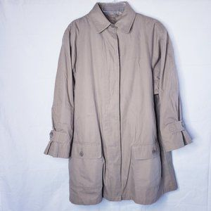 Vintage London Fog Tan Button Front Trench Coat 12